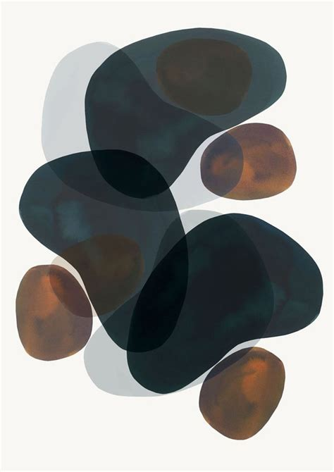Design Modern Abstract Organic Shapes by Strict Composition Abstract Prints By