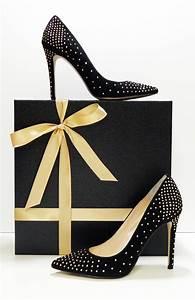My New Black Suede, Gold Stud Embellished, Pumps A Side