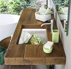 quelle vasque design rustique pour votre salle de bain With salle de bain design avec vasque pierre exterieur