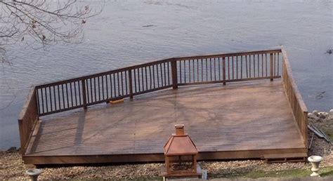 wood deck with cabot solid stain in bark mulch porch