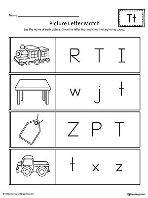 letter t review worksheet myteachingstation