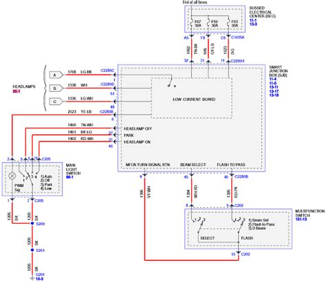 and headlight wiring diagram car parts