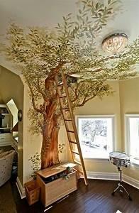 Baum Für Wohnzimmer : bild an der wand and am dachboden baum und eine treppe ~ Michelbontemps.com Haus und Dekorationen