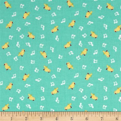 shabby strawberry fabric penny rose shabby strawberry birds teal discount designer fabric fabric com