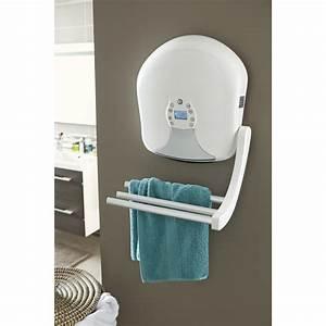 Radiateur soufflant salle de bain fixe électrique EQUATION Vote 2000 W Leroy Merlin