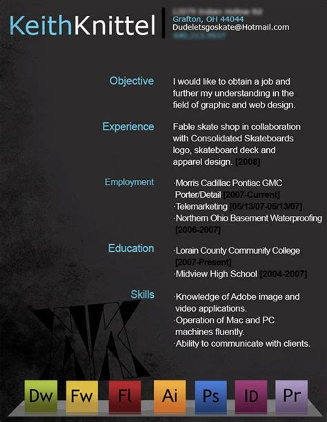 resume creative resume and creative on