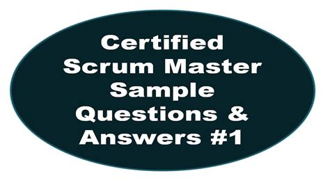 certified scrum master sle questions and answers 1 youtube