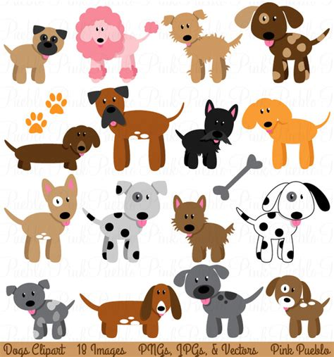 Clip Dogs And Puppy Clipart And Vectors Illustrations On