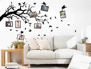 Baum Für Wohnzimmer : wandtattoo ast mit fotorahmen i love ~ Markanthonyermac.com Haus und Dekorationen