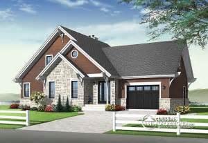 Delightful House Plan With Garage by D 233 Du Plan De Maison Unifamiliale W2957 V2