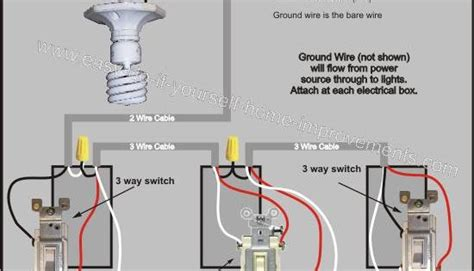 Way Switch Wiring Diagram Electrical Pinterest