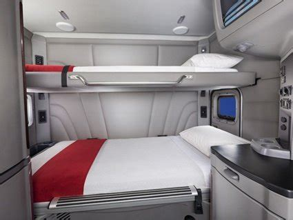 semi truck sleeper cabinets where do truckers sleep while out on the road in