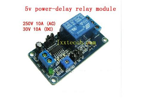 5v 9v 12v power delay relay module fully functional there are delay on delay function