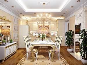 cuisine baroque classique luxueuse et salle a manger With salle a manger luxueuse