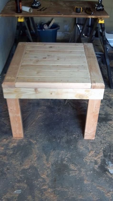 diy 2x4 end table diy