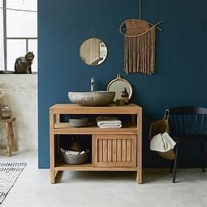 Meuble Salle De Bain Sous Vasque : meuble en teck meubles pour salle de bain colonial solo ~ Nature-et-papiers.com Idées de Décoration