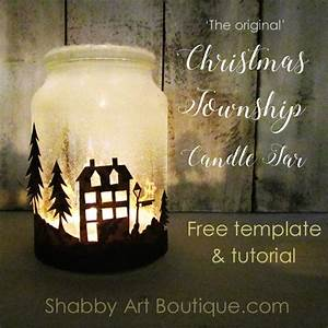 Shabby Art Boutique - How to make a Christmas Township