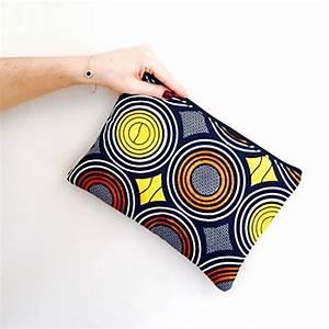 Pochette Ethnique Chic : sac pochette tissu wax africain clutch boho chic imprim ethnique jaune et su dine noir id e ~ Teatrodelosmanantiales.com Idées de Décoration