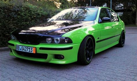 bmw e39 m5 styling lime green and black custom paint
