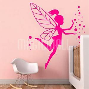 wall decals magic fairy little girl bubbles wall With girl wall decals