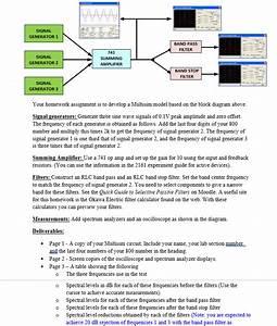 Solved   Multisim Problem  Assume That Signal Generator 2