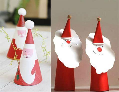 weihnachten basteln papier wie einen weihnachtsmann mit kindern basteln und feststimmung sichern