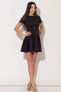 robe courte jupe evasee noire mademoiselle grenade With robe courte droite