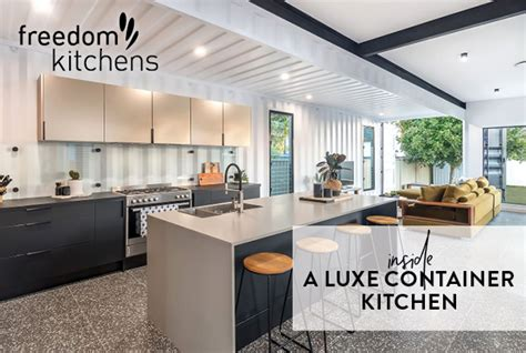 luxe container kitchen freedom kitchens