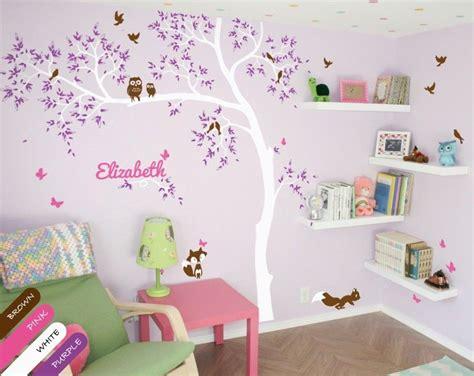 Personalized Babys Nursery Wall Decal Fox Squirrel Owl