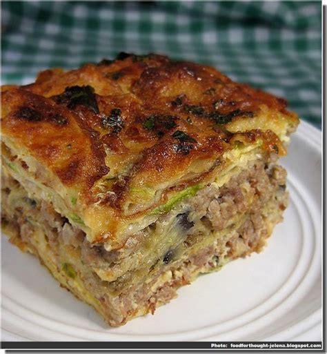 epicurien recettes de cuisine recette de moussaka serbe sprska musaka cuisine serbe