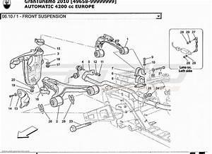 Maserati Granturismo 4 2l Boite Auto 2010 Front Suspension