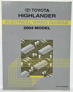2004 Toyota Highlander Electrical Wiring Diagram Manual