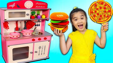 Hana Pretend Play Cooking W Princess Kitchen & Food Toys