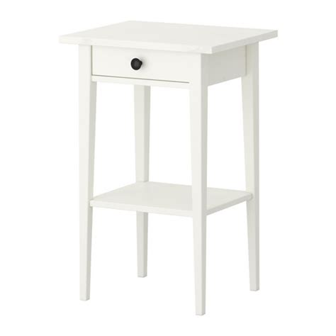 hemnes table de chevet teint 233 blanc ikea