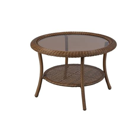 round patio coffee table 30 in wicker round patio coffee table weather resistant