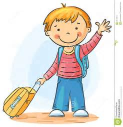 Child Waving Goodbye Clip Art