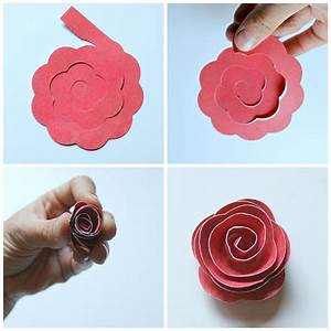 rolled paper flower shadowbox occasionally crafty With rolled paper roses template