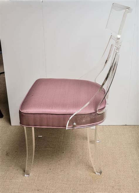 vintage clear lucite desk chair at 1stdibs