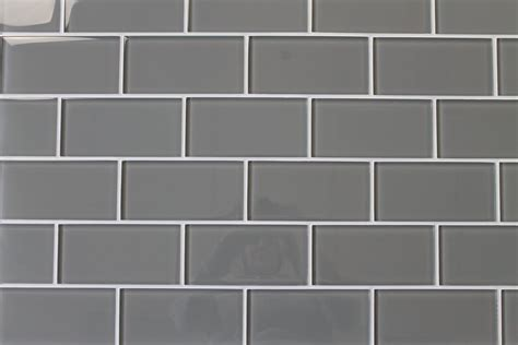 pebble gray  glass subway tiles rocky point tile