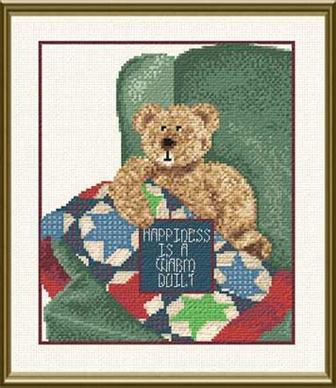 happiness   warm quilt cross stitch pattern quilts