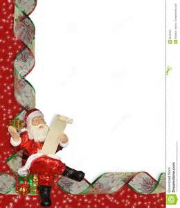 Santa Christmas Border