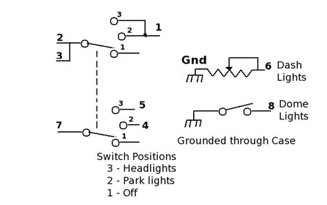Light Switch Diagram Gm by Figuring Out The Headlight Switch Wiring Route 66