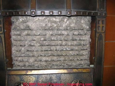 asbestos fireplace insert leave