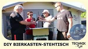 Stehtisch Selber Bauen : diy bierkasten stehtisch selber bauen youtube ~ Lizthompson.info Haus und Dekorationen