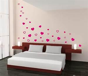 Bilder Für Schlafzimmer Wand : herzen herz schlafzimmer liebe wandtattoo wand aufkleber ~ Michelbontemps.com Haus und Dekorationen