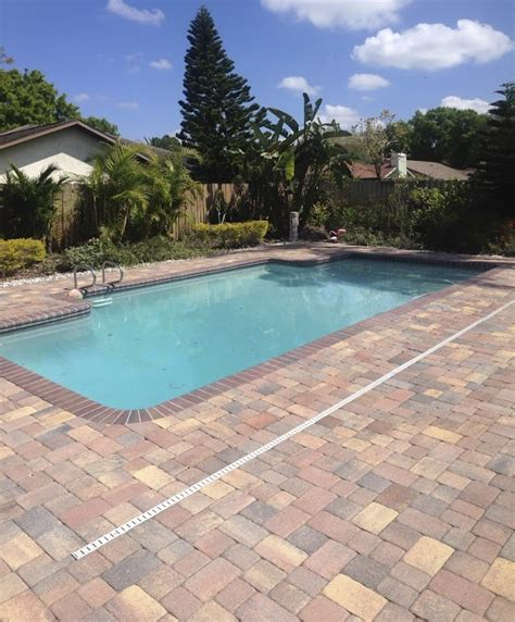 Pool Deck Pavers In Central Florida Concrete Brick Paver