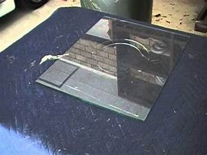 cut a hole in glass for a cat or dog door youtube With dog door without cutting door