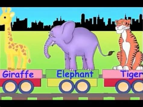 learn wild animal train learning zoo animals video