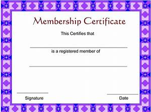 membership certificate template certificate templates With new member certificate template