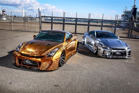 gold engraved nissan gt  costs   million
